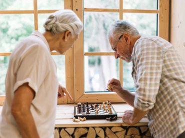 elder playing chess